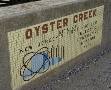 new oyster creek sign