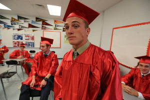 OCHS Graduation: Graduates get ready the start of their Graduation form Ocean City High School Friday, June 20, 2014. - Edward Lea