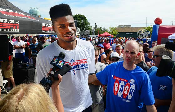 76ers' top pick Noel brings local fans hope