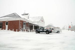 Cumberland Snow: The Wawa at Landis and Main Ave. is open and doing a brisk business. Photo/Dave Griffin - Dave Griffin