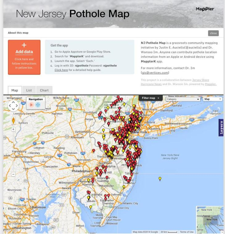 Pothole Map