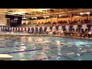 Atlantic City's Colleen Callahan wins the 100 butterfly in the SJ Public A final