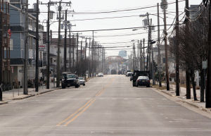Polar Plunge: Landis Ave in Sea Isle remains mostly vacant of traffic from JFK south from 45th Street, but it will be flooded with people this weekend.  - Dale Gerhard