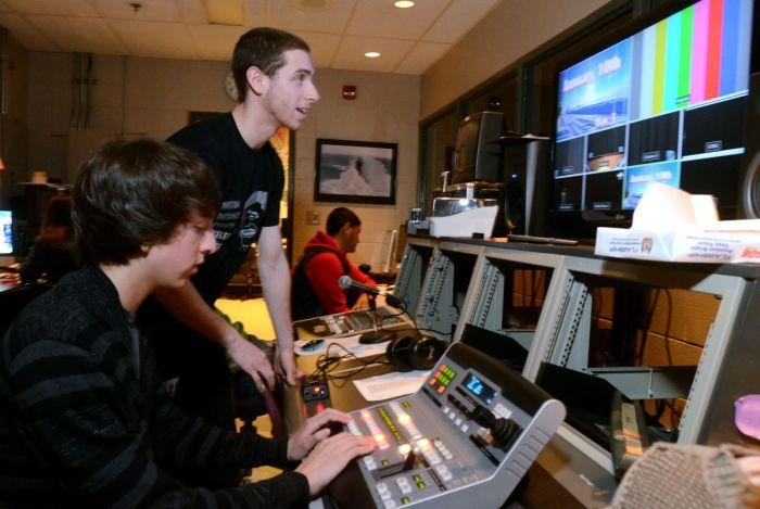in the schools tv studio