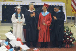St. Joseph Graduation: Image captured during St. Joseph's High School Graduation held at St. Joseph Church in Hammonton. Thursday, June 6, 2013. Photo/Dave Griffin  - John David Griffin