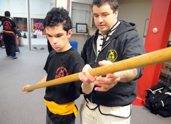 Absecon teen overcomes lack  of sight to advance in wing chun