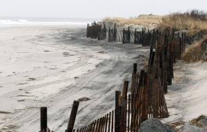 North Wildwood Beach: A beach replenishment project is expected this spiring in North Wildwood. Officials inspected the area Third Avenue in January.  - Dale Gerhard