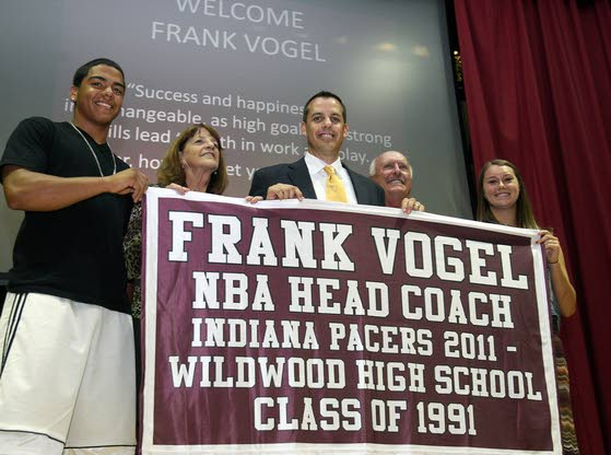 Frank Vogel humbled after Wildwood High School honors NBA coach