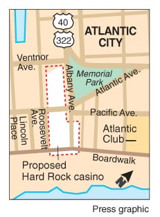Hard Rock locator map
