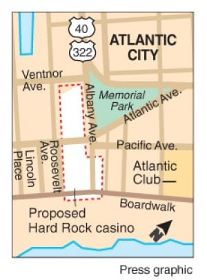 Hard Rock locator map