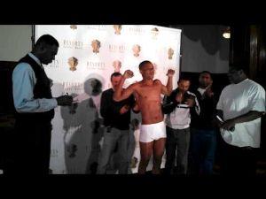 Victor Cayo vs. Emmanuel Taylor weigh-in