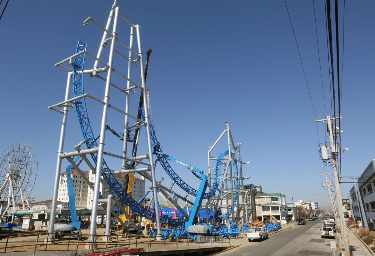 New roller coaster going up in ocean city money for Jolly roger pier fishing report