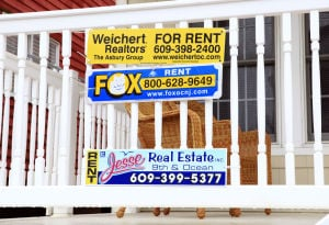 Summer Rentals: Rental signs in Ocean City, Friday, April 19, 2013.  - Photo by Vernon Ogrodnek