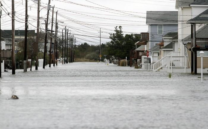 Sandy flooding