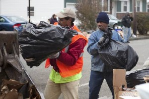 Volunteers gather to help A.C. clean Sandy debris off streets