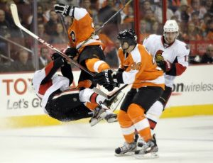 Flyers beat Senators, finally reach .500 mark