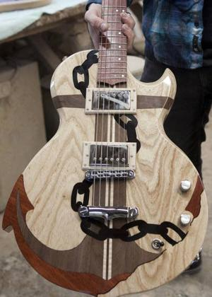 Stockton grad teaching himself to make guitars in Pleasantville to earn a living