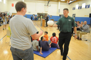 Egg Harbor City Community School gets a visit from New York Jets players