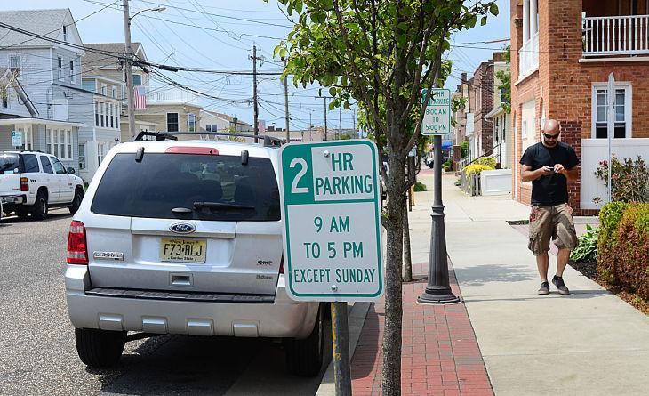 shore parking spaces
