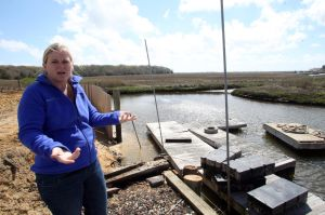 MARINA UPDATE: KristiMunro, owner of Munro marina in Little Egg Harbor Township,talks about the new FEMA flood maps.  - Edward Lea