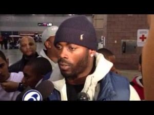 Eagles quarterback Michael Vick visits the Atlantic City Convention Center, Nov. 6, 2012