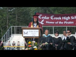 Cedar Creek High School Graduation's Valedictorian Speech