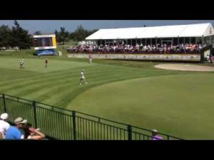 Michelle Wie approaches 18 at ShopRite LPGA Classic Day 2
