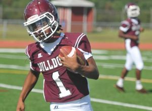 In the huddle with Bridgeton's Cappadonna Miller