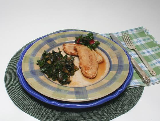 Turkey and cider-braised greens make delicious duo