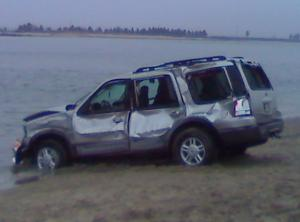 Ford SUV pulled from Corson's Inlet