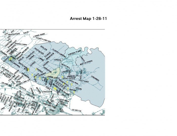 Arrest map Jan. 21-27, 2011