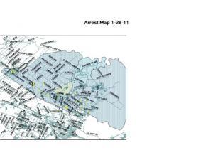 Arrest map Jan. 21-27, 2011