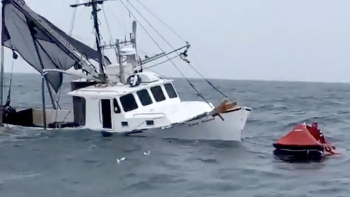 Raw video scallop boat sinks in 60 seconds off cape may for Cape may fishing charters