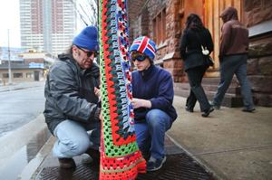 Sister Jean's Kitchen Yarn Bombing