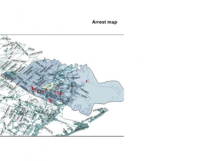 arrest map April 8