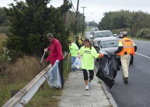 Absecon apartment residents clean up around nearby Route 9 fishing bridge