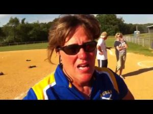 Buena softball coach Pam Pickett talks after sectional win