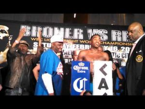 Broner-Rees weigh-in in Atlantic City on Feb. 15, 2013.