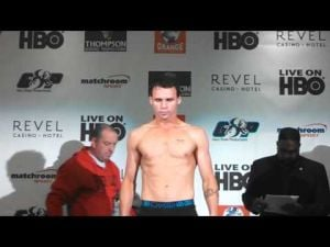Geale-Barker weigh-in at Revel in Atlantic City