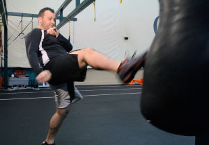 Your workout: Kickboxing front kick