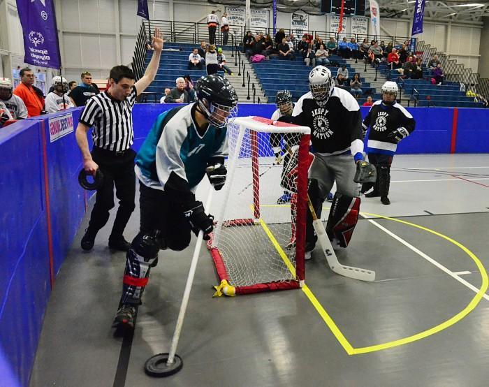 special olympics floot hockey