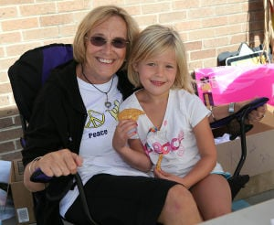 Dbml S25 Autism Walk: Linda Hagan, of Margate, with her granddaughter Maya Hagan, 6, of Ventnor, attended the Unity Walk. - Sean M. Fitzgerald