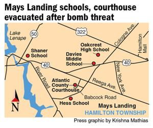 Tuesday's bomb threats in Mays Landing