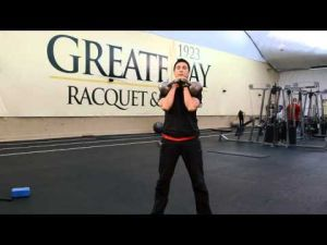 Your Workout: Kettle Bell Front Squat into Press