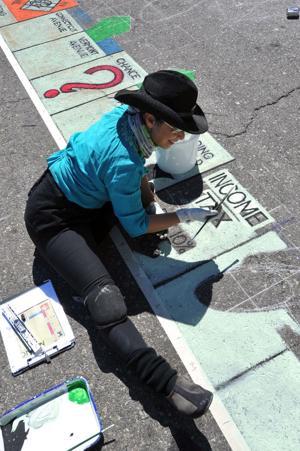 Boardwalk Chalk Art