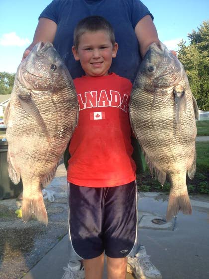 Shep on Fishing: 7-year-old Keegan Rothman catches 11.79- and 11.2-pound sheepshead