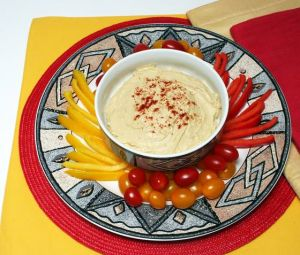 Hummus is a simple, tasty way to get protein and fiber