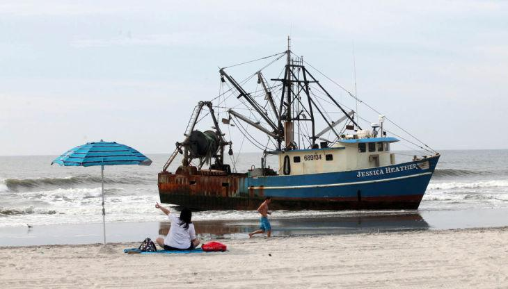 Beached Boat in AC