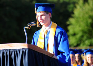 Buena Regional High School Graduation: Valedictorian Robert Panco, from Buena, address the audience during Buena Regional High School's Class of 2014 Commencement Program held at the High School in Buena Friday, June 20, 2014. Photo/Dave Griffin - Dave Griffin