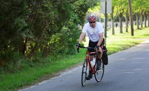 A promise to rideRetired state trooper to bike cross country to raise funds and keep vow he made to his late wife